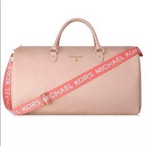 Michael Kors Blush Pink Overnight Duffel Bag